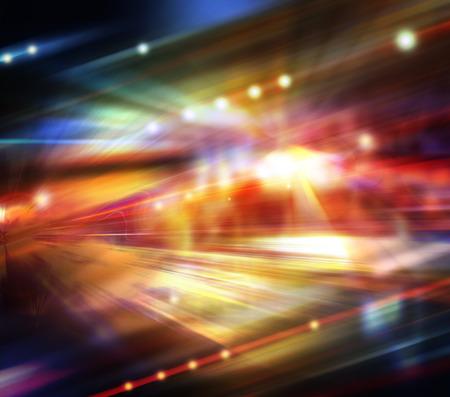 Abstraktes Bild der Nachtverkehr in der Stadt. Standard-Bild - 47059503