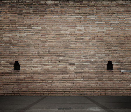 amaged: high resolution brick wall and floor
