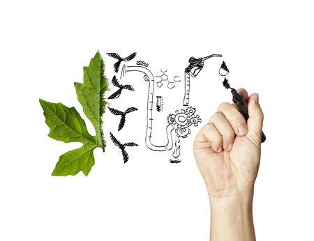bio fuel: Green bio fuel concept