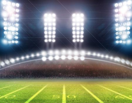 floodlit: lights at night and stadium