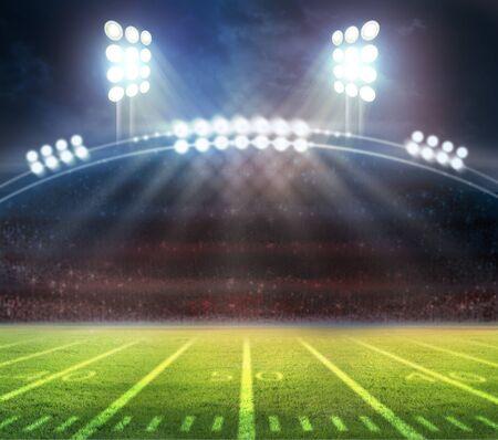 Representación 3d del estadio de fútbol americano Foto de archivo