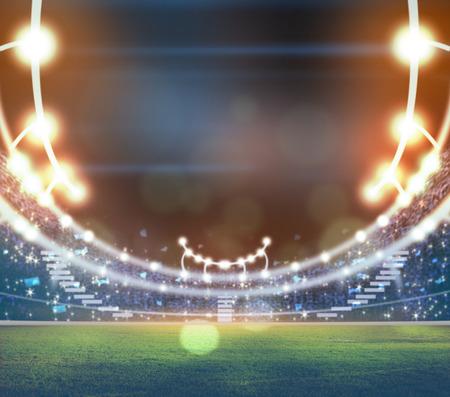 lights at night and stadium 3D Stock Photo
