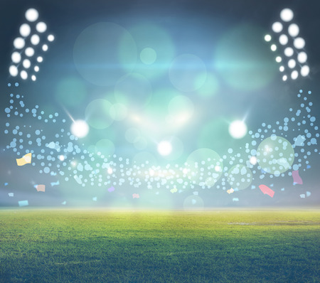 lights at night and stadium 3D Standard-Bild