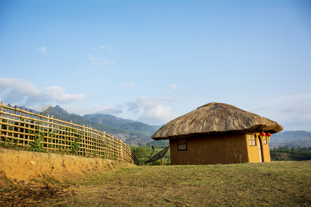 house red soil.Thai Boran Village, Pai , Mae Hong Son Thailand