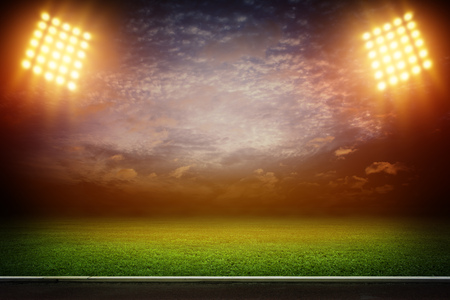 lights at night and stadium 3D Stock Photo