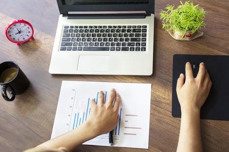 Businessman analyzing financial performance. Stock Photo