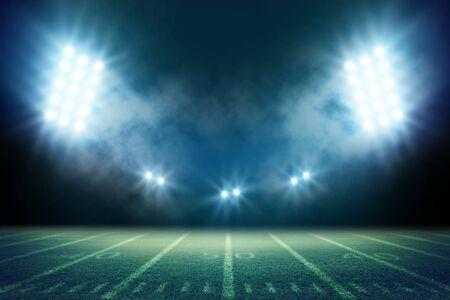 Rendering 3d dello stadio di calcio americano - Illustrazione