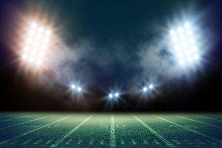 American Soccer Stadium 3d rendering - Illustration Imagens