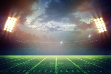 American Soccer Stadium 3d rendering