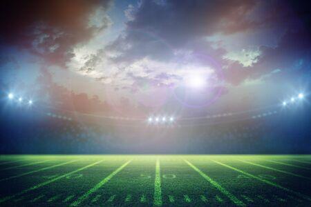 Het Amerikaanse Voetbalstadion 3d teruggeven Stockfoto