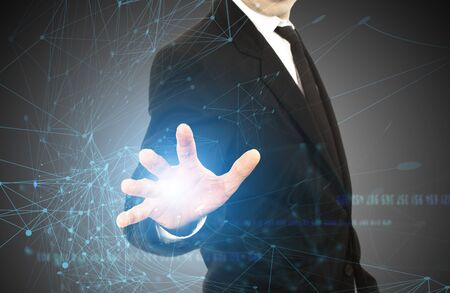 Media technologies for business concept. Stockfoto