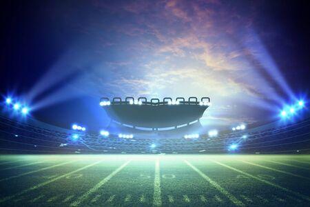 Rappresentazione americana dello stadio di calcio 3d