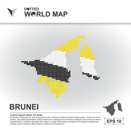 map of brunei: map, asean, illustration, dot, background, dotted, asia, southeast, country, vector, design, community, asian, modern, white, graphic,background, world, design, travel,art, infographic,geography, concept, abstract, dots, business, symbol, Brunei