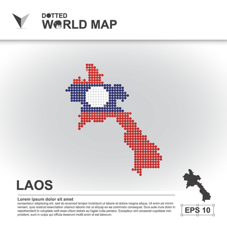 laos: map, asean, illustration, dot, background, dotted, asia, southeast, country, vector, design, community, asian, modern, white, graphic,background, world, design, travel,art, infographic,geography, concept, abstract, dots, business, symbol, Laos
