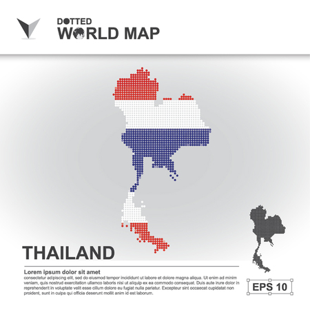 dotted world map: map, asean, illustration, dot, background, dotted, asia, southeast, country, vector, design, community, asian, modern, white, graphic,background, world, design, travel,art, infographic,geography, concept, abstract, dots, business, symbol, Thailand Illustration