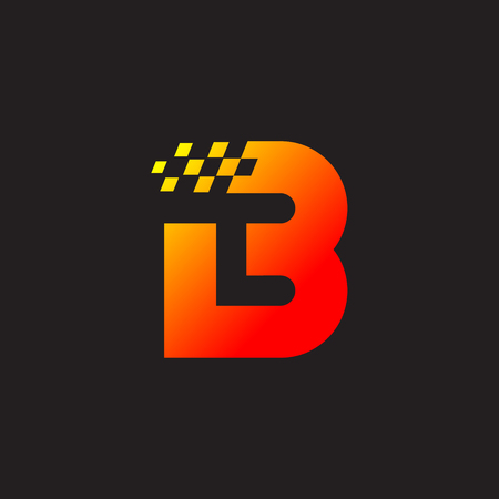 Letter B logo,fast speed, moving,delivery,Digital and Technology for your Corporate identity Illusztráció