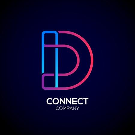 hyperlink: Letter D emblem Design