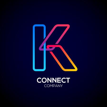Letter K emblem Design