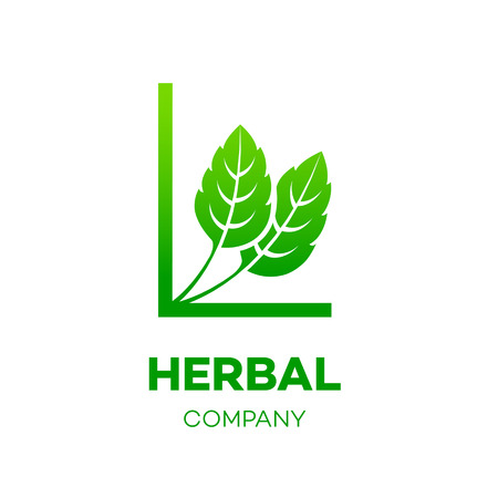 green environment: Letter L logo,Green leaf,Herbal,Pharmacy,ecology vector illustration
