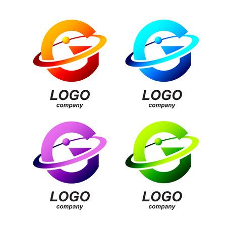 추상 문자 G 라운드 반지 모양 비즈니스 로고 디자인 template.circle 반지 로고, 골드 불가능 글꼴, 기호, 알파벳, 기업의 정체성 기호 개념 일러스트