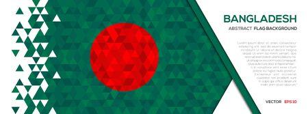 Abstract polygon Geometric Shape background.Bangladesh flag