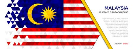 Abstract polygon Geometric Shape background.Malaysia flag Illustration