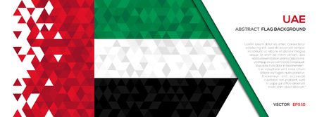 Abstract polygon Geometric Shape background.United Arab Emirates flag 向量圖像