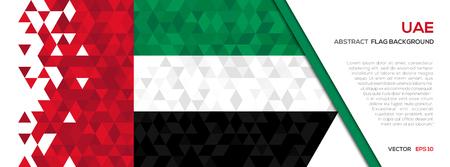Abstract polygon Geometric Shape background.United Arab Emirates flag Illustration