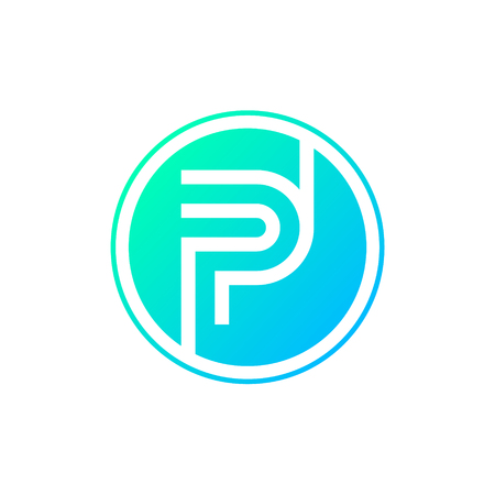 Letter P Logocircle Shape Symboldigitaltechnologymedia Royalty