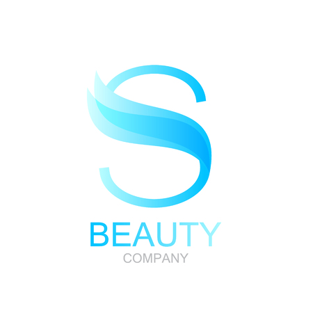 butterfly isolated: Abstract letter S logo design template with beauty spa salons yoga Illustration