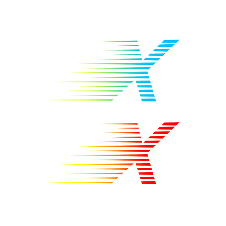 Abstract letter X logo,fast speed fire moving,quick energy sign for your Corporate identity Illustration