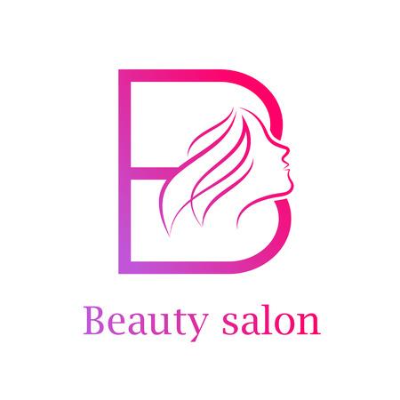 Abstract letter B logo,Beauty salon logo design template  イラスト・ベクター素材