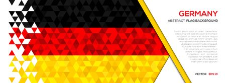 Abstract polygon Geometric Shape background.Germany flag