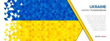 Abstract polygon Geometric Shape background. Ukraine flag Illustration