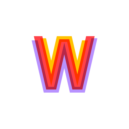 Letter W logo with Colorful three line, real estate, apartment, condo, house, modern, digital, technology logotype