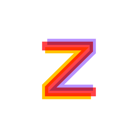 Letter Z logo with Colorful three line, real estate, apartment, condo, house, modern, digital, technology logotype