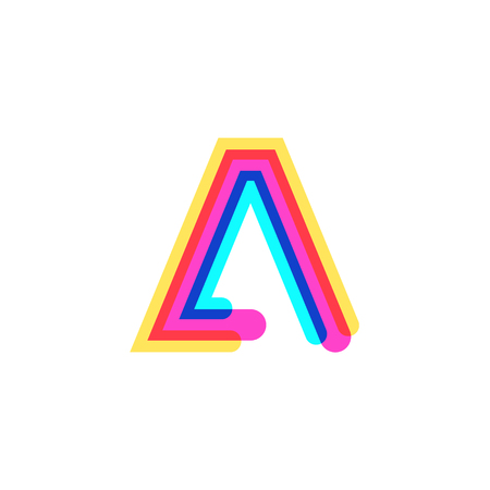 Letter A logo with CMYK logo template, printing services, modern, digital, technology logotype
