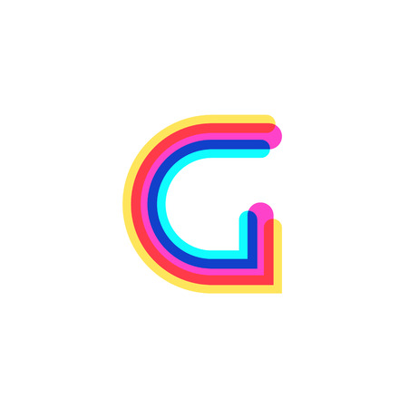Letter G logo with CMYK logo template, printing services, modern, digital, technology logotype