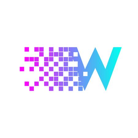 Letter W Logo Design.network digitale logo pictogrammalplaatje. technologie logo, web net logo pictogram, bedrijfslogo