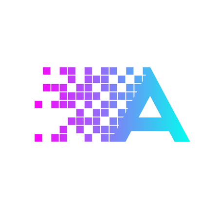 racing sign: Letter A Logo Design.network digital logo icon template. technology logo, web net logo icon, Company