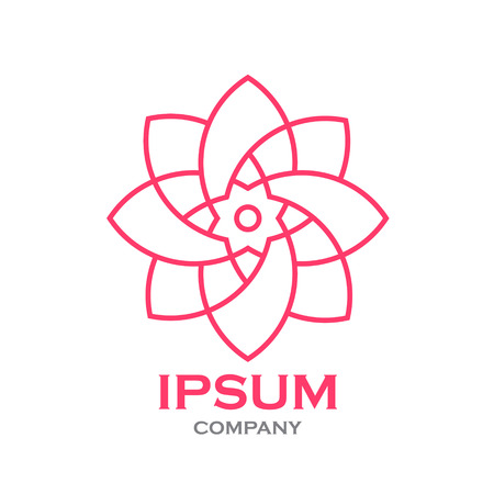 Beautiful flower line decoration vector logo Фото со стока - 85999738