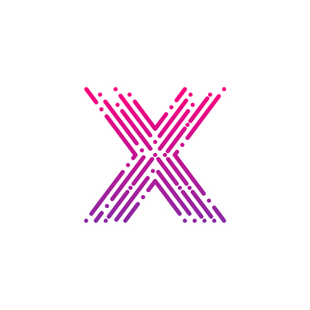 Letter X with Dots and Lines logotype,Fast Speed, Delivery, Digital and Technology for your Corporate identity Illusztráció