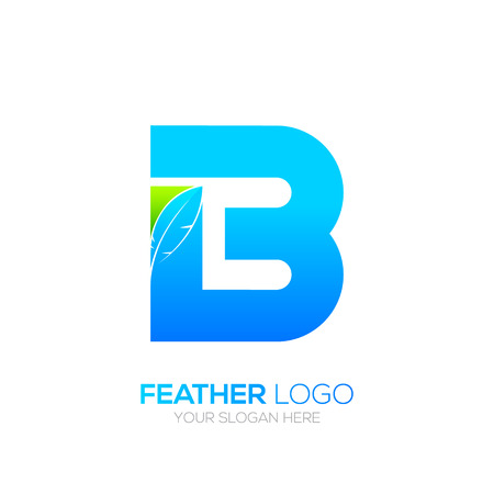 type writer: Letter B with Feather icon, Fountain pen, Law, Legal, Lawyer, Copywriter, Writer icon type for your Corporate identity