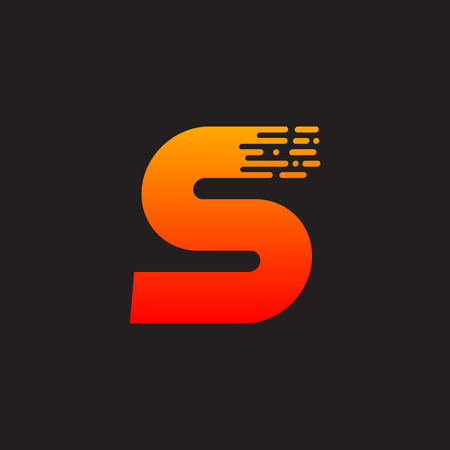 Letter S with Fast icon, Speed, Moving and Quick, Digital and Technology for your Corporate identity.