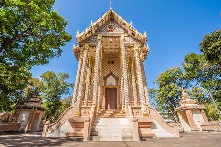 grand pa: church in Wat Pa Sutdhawas, sakon nakhon, thailand Stock Photo