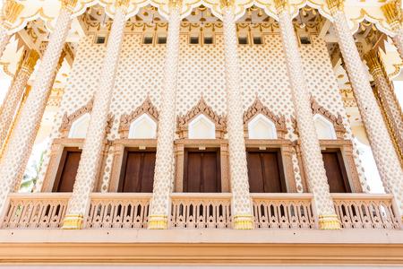 grand pa: church s carving windows in Wat Pa Sutdhawas, sakon nakhon, thailand