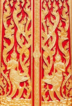 beautiful temple door, sakonnakhon, thailand photo