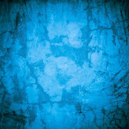 plastered: Designed blue grunge plastered wall texture, background