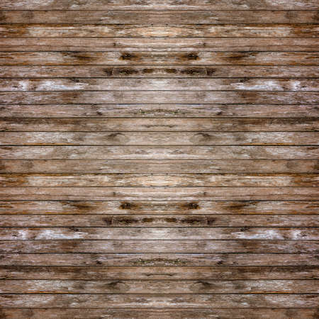 horizontal old, grunge wood wall used as background  photo