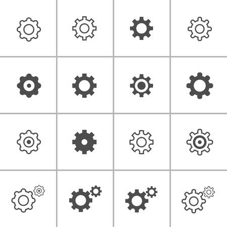 단일 개체: 평면 디자인 설정 아이콘을 설정, 각 아이콘은 하나의 오브젝트 (복합 형 패스), 벡터 eps10입니다